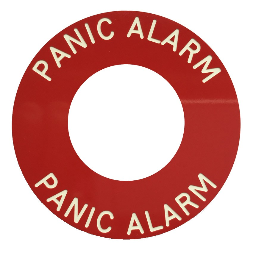 Panic Alarm Engraved Red Disc For Use With S1721wgb Pa