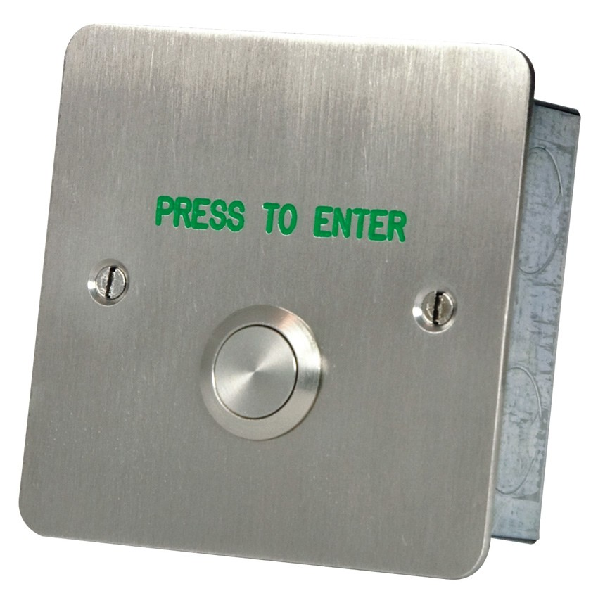 home press to enter button stainless steel