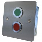 Door status indicator with Red and Green jumbo LEDs S/S