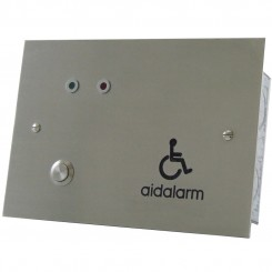 Stainless Steel flush mount disabled toilet alarm