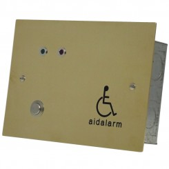Polished Brass flush mount disabled toilet alarm