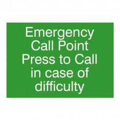 Emergency Assistance Sign 282 x 199 x 2mm