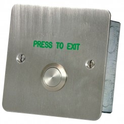 Press to Exit button Stainless steel