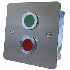 Door status indicator with Red and Green jumbo LEDs