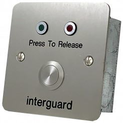 Press to Release button with door status LEDs S/S