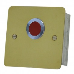 Polished Brass Red Overdoor Light