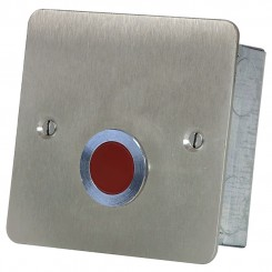 Red Overdoor Light and sounder stainless steel