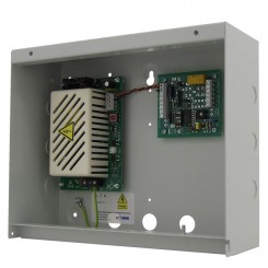 S351 relay module in a steel enclosure with a 2A 12vdc PSU
