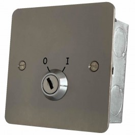 Two position keyswitch Stainless Steel with Tamper