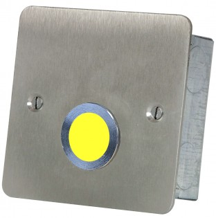 Yellow Overdoor Light and sounder Stainless steel