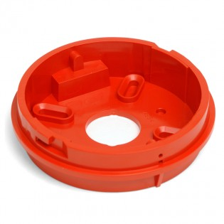 Shallow base in red for use with sounder beacons or strobe