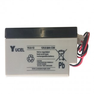 Rechargeable 12v 800mAhr sealed lead acid battery