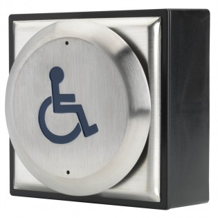 Push Pad pre-engraved with Disabled logo