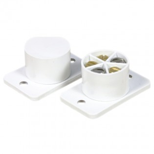 Standard door contact flush mount - white