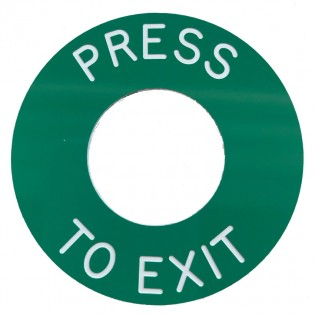 Press to Exit engraved GREEN disc for use with S1712WGB