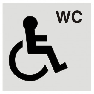 Self adhesive Disabled WC sign 100 x 100mm
