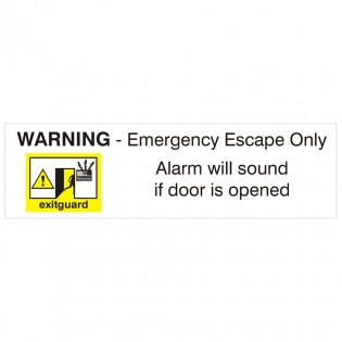 Emergency Escape Only sign 300 x 90mm
