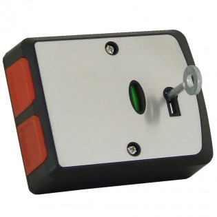 Black and Stainless Double Push Panic Button