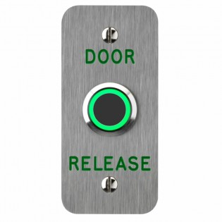 Touch Free Door Release Narrow Style Stainless 12/24v