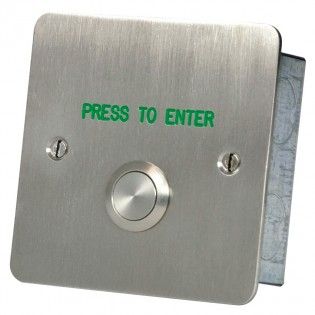 Press to Enter button Stainless steel