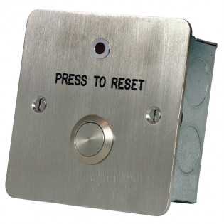 Press to Reset button with LED Stainless steel