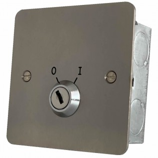 Two position keyswitch Stainless steel