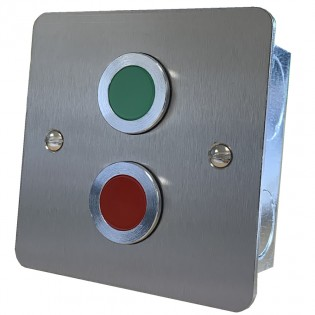 Door status indicator Red/ Green jumbo LEDs and sounder