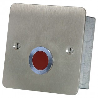 Red Overdoor Light Stainless Steel