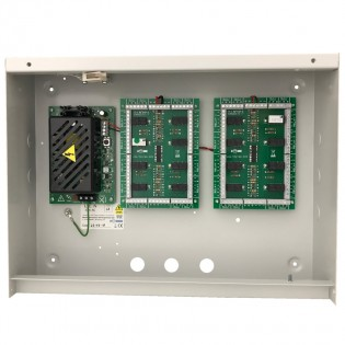 16 x S312N relay modules in an enclosure with a 5A 12vdc PSU