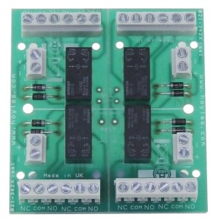 Quad Double Pole Relay Module