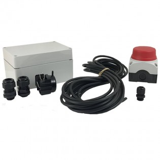 Emergency button kit for use in Sauna's and Steam Room's