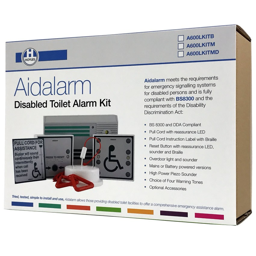 Aidalarm Battery Powered Disabled Toilet Alarm Kit