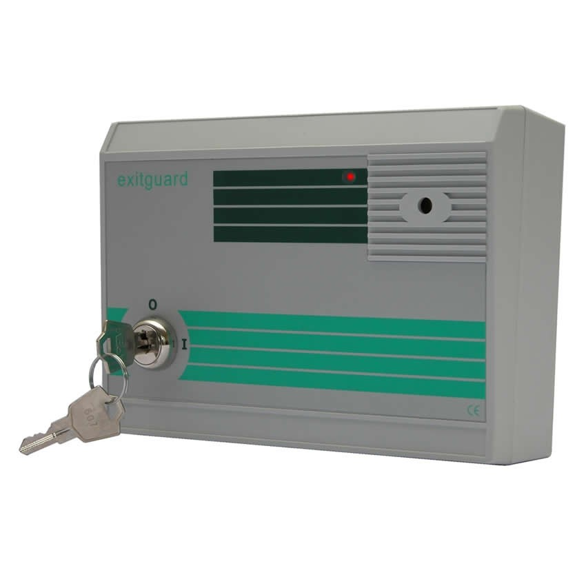 sc 1 st  Hoyles & Exitguard door alarm with integral keyswitch - Green