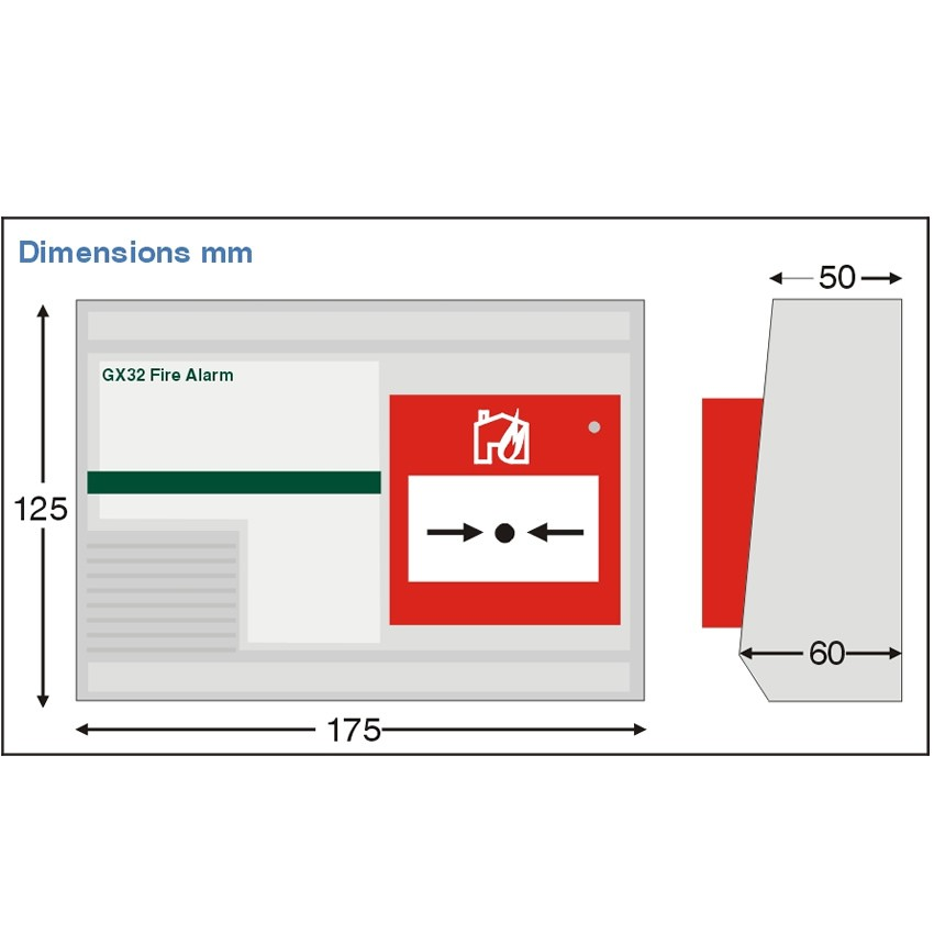Fire Alarm Call Point Sounder For Gx32 System