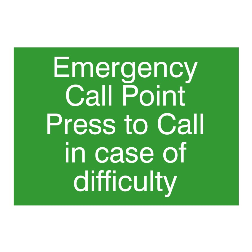 Emergency Assistance Sign 282 X 199 X 2mm Pool Alarm