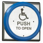 Flush Push Pad, pre-printed Disabled logo and Push To Open