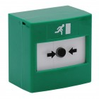 Resettable SPCO Emergency Release call point in GREEN