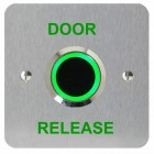 Touch Free Door Release Single Gang Stainless 12/24v