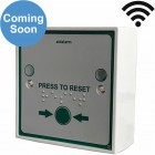 Wireless Press to Reset Button c/w Braille text & yellow LEDs