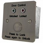Press to Lock/Unlock button with LEDs