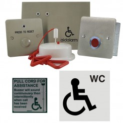 Disabled Person Toilet  Alarm Kit, Stainless Steel