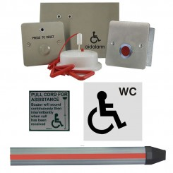 Disabled Person Toilet  Alarm Kit, c/w Panic Strip S/S