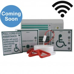 Wireless Disabled Toilet Alarm Kit - Mains Powered Control
