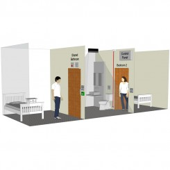 Advanced Shared Bathroom Solution Kit - 2 door version