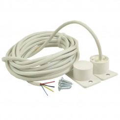 Flush Door Contact with 1m potted cable  - white