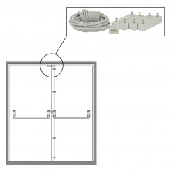 Double door contact kit for Exitguard and DorWatcher