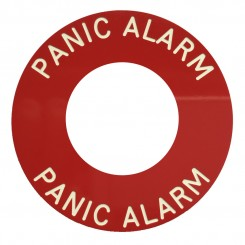 Panic Alarm engraved RED disc use with S1711WGB