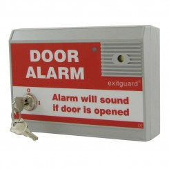 Exitguard door alarm with integral keyswitch - Red