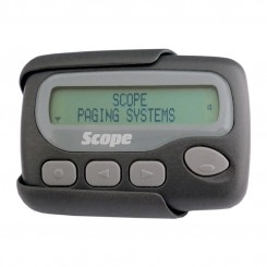 40 character 2 line text pager with tone & vibrate facility
