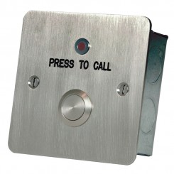 Call button with re-assurance LED Stainless steel